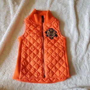 Ralph Lauren quilted vest with crest